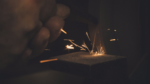 man,   working,   long exposure,   metal,   sparks,   steel,   hands,   heat,  fire