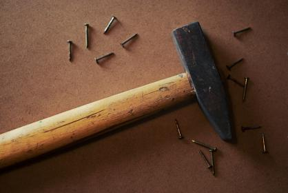 hammer, nails, tools, objects