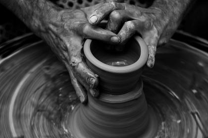 nails, hands, wrist, clay, pot, moulding, art, product, industrial