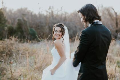 nature, trees, plant, grass, outdoor, people, man, woman, wedding, gown, suit, marriage, couple, love, smile, happy, groom, bride