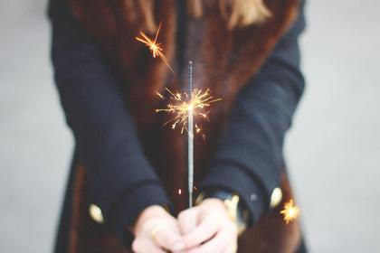 sparkler, fire, fireworsk, candle, new years, celebrate, party, birthday, spark, bright