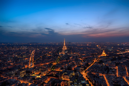paris,  aerial,  night,  city,  french,  france,  lights,  eiffel tower,  landmark,  travel,  tourism,  scenic,  beautiful,  hd wallpaper,  sky,  clouds,  dusk,  busy