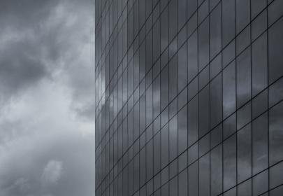 building, windows, architecture, city, sky, dark, storm, clouds, cloudy, tower, high rise