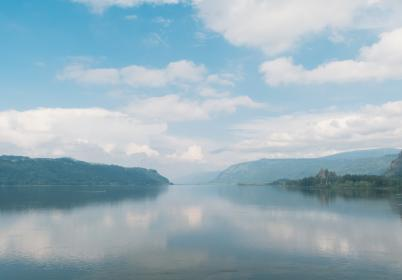 landscape, lake, water, reflection, mountains, nature, outdoors, sky, clouds