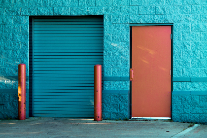 exterior,  building,  doors,  garage,  city,  urban,  colorful,  paint,  entrance
