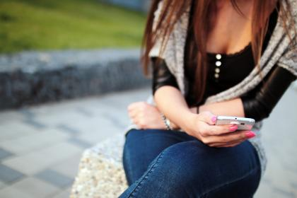 girl, woman, smartphone, mobile, technology, texting, people, fashion