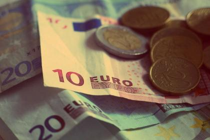 money, euros, banknotes, bills, coins, currency, change, finance