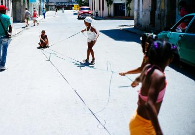 street, road, alley, people, kids, child, playing, games, sunny, day, outside