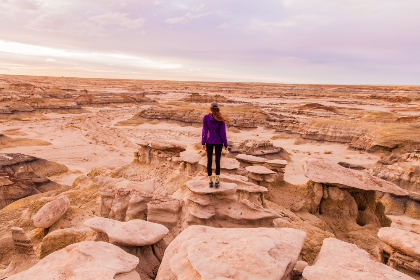 woman,  adventure,  desert,  rock,  sand,  wide view,  hike,  travel,  vacation