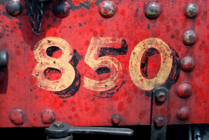 steel, metal, red, wall, numbers, chain, outdoor, construction