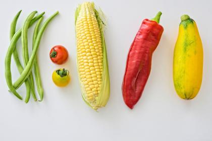 vegetable, red, tomato, green, bean, yellow, corn, cucumber, pepper, ingredients, food, spice