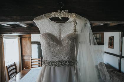 free photo of bridal  gown