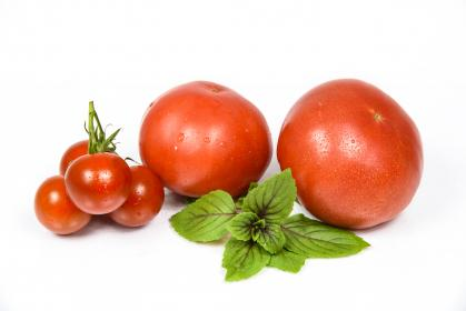 tomato, crops, fruit, red, fresh, leaves, green, table, kitchen, ingredient, food