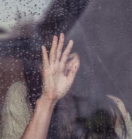 girl, sad, crying, raining, rain drops, window, people, woman