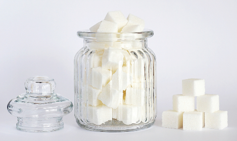 sugar, cubes, sweet, food, ingredients, jar, isolated