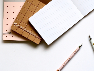 writing,  pads,  pens,  business,  desk,  office,  pink,  white,  brown,  spots