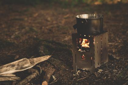 wood, outdoor, fire, camping, cooking, burner, cook, cooker