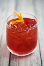 cocktail,  summer,  red,  berry,  drink,  beverage,  alcohol,  orange,  garnish,  fruit,  glass,  cold,  mixed,  ice,  wood,  cherry,  punch,  rum