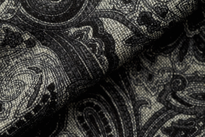 paisley,  fabric,  closeup,  pattern,  close,  detail,  garment,  fold,   texture,   cloth,   clothing,   design,   material,   woven,   weave,   fiber,   fashion,   cover,   textile,  black,  gray