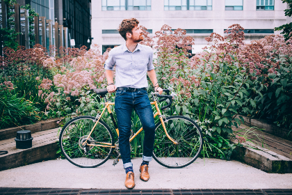 hipster,  man,  bicycle,  fashion,  lifestyle,  jeans,  bike,  style,  stylish,  beard,  city,  urban,  guy,  person,  transportation