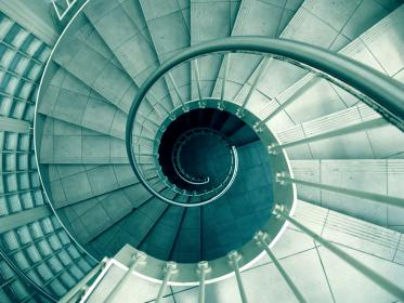 spiral, staircase, stairwell, steps, stairs, architecture, design