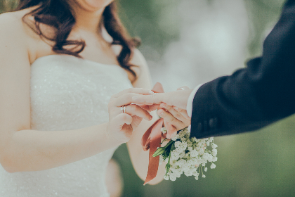 wedding, couple, love, married, man, woman, bride, groom, bouquet, flowers, people, romantic, celebration, party, ring, hand, wedding dress, suit, fashion