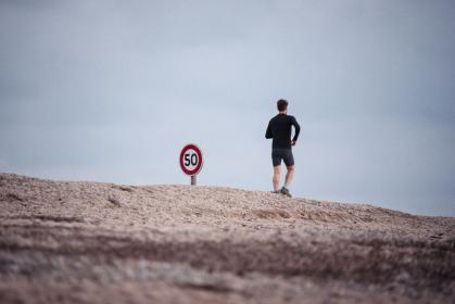 mountain, highland, people, man, running, jogging, fitness, health, outdoor