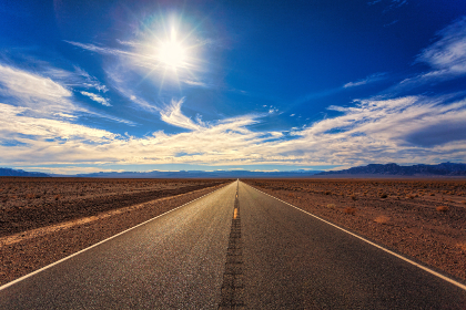 free photo of lonely   road