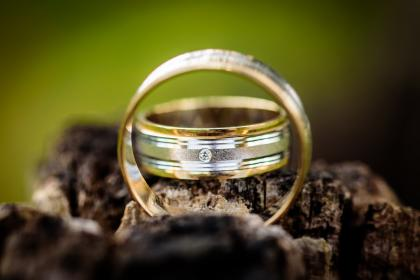 wedding, ring, engagement, couple, pair, blur