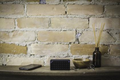 bluetooth, black, speaker, electronic, technology, music, sound, key, mobile, phone, gadget, home, interior, wall