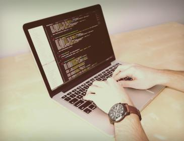 laptop, macbook, computer, technology, business, coding, programming, typing, desk, office, startup, watch, sublime text, code