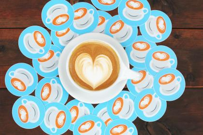 heart, art, coffee, cup, fashion, wooden, table, plate, mat, latte, espresso
