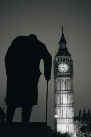 architecture, building, infrastructure, skyscraper, tower, city, urban, big ben, london, black and white, landmark, hunchback, people