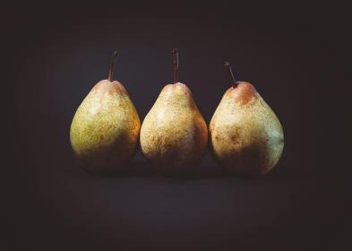 food, eat, fruits, pears, line, row, minimalist