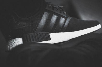 adidas, nmd, fashion, shoes, sole, black, white, hypebeast, shoelace