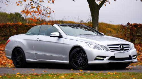 car, vehicle, luxury, silver, mercedes, benz, convertible