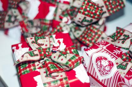 gifts, presents, wrapping, bows, christmas, festive, holidays