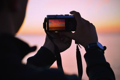 camera, dslr, photography, black, blur, focus, hand, people, man, silhouette, photography, watch, photographer, sky