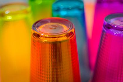cups, glasses, colours, colors, drinks