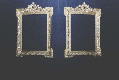 photo, portrait, frames, picture, gold, decor
