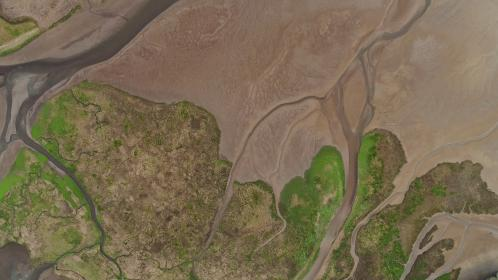 nature, landscape, aerial, view, water, land, green, grass, river, map, area