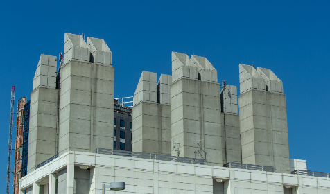 city,  building,  construction,  tall,  rooftop,  cement,  concrete,  architecture,  top,  site,  project,  urban,  work,  blue,  sky,  high