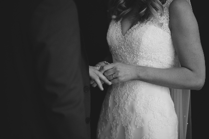 bride,  wedding,  ceremony,  marriage, black & white, man, woman, male, female, hands, holding hands, love, romantic