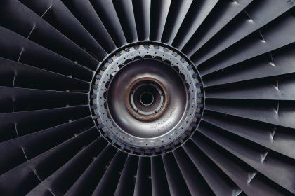 airplane turbofan