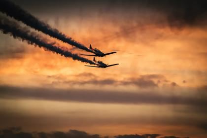 Photo of airplanes