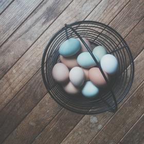 basket eggs