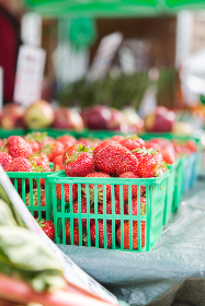 basket strawberries