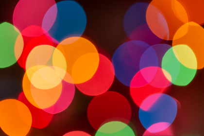 bokeh colorful