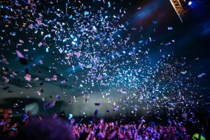 Photo of confetti