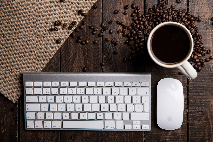 keyboard coffee